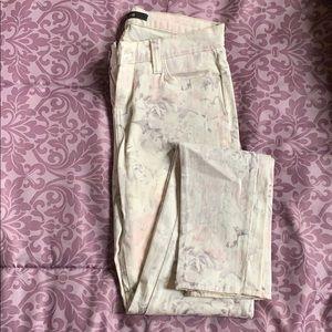 Floral J Brand legging skinny jean